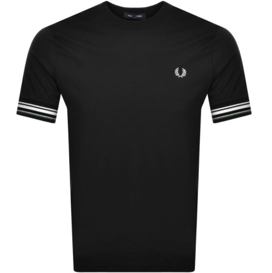 a black Fred Perry T Shirt