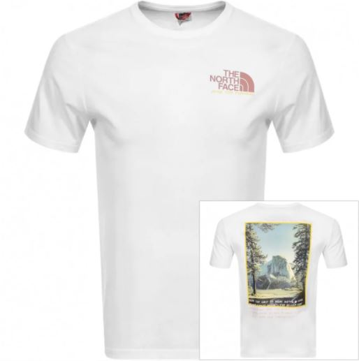 The North Face white tshirt
