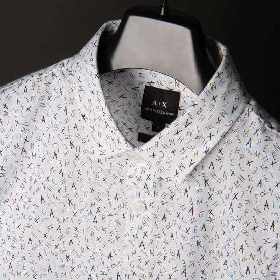 A white and black shirt for men by A|X